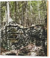 A Stone Structure In The Berkshire Hills Wood Print