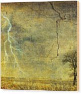 A Stormy Spring Wood Print