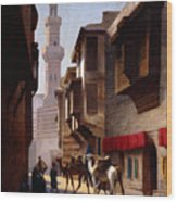 A Street In Cairo Wood Print