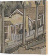 A Street In California Wood Print