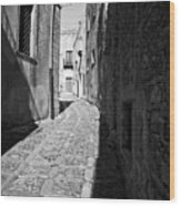 A Street In Sicily Wood Print