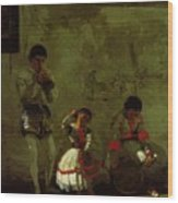 A Street Scene In Sevilla 1870 Wood Print