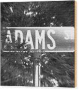 Ad - A Street Sign Named Adams Wood Print