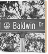 Ba - A Street Sign Named Baldwin Wood Print