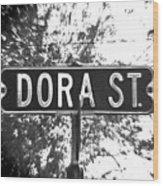 Do - A Street Sign Named Dora Wood Print