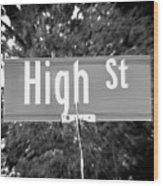 Hi - A Street Sign Named High Wood Print