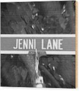 Je - A Street Sign Named Jenni Wood Print