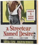 A Streetcar Named Desire Portrait Poster Wood Print