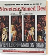 A Streetcar Named Desire Wide Poster Wood Print