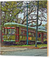 A Streetcar Named St. Charles Wood Print