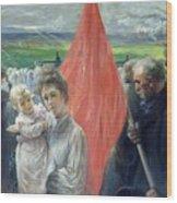 A Strike At Saint Ouen Wood Print