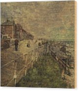 A Stroll Along The Seafront Wood Print