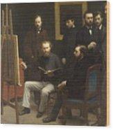 A Studio At Les Batignolles 1870 Wood Print