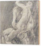A Study Of Rodin's Kiss In His Studio Wood Print