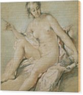 A Study Of Venus Wood Print by Francois Boucher