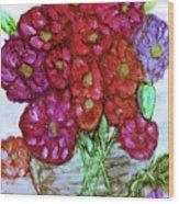 A Summer Bouquet Wood Print