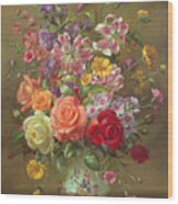 A Summer Floral Arrangement Wood Print
