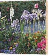 A Summer Garden Wood Print