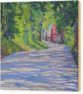 A Summer Road Wood Print