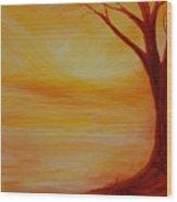 ...a Sun Sets Wood Print