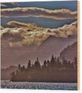A Sunny Day On The Kachemak Bay Wood Print