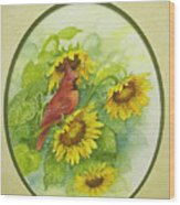 A Sunny Garden Spot Wood Print