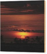 A Sunset At Captree  Wood Print by Christopher Kirby