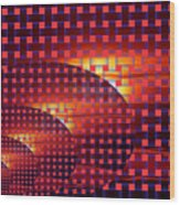 A Sunset In Weave Wood Print