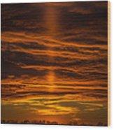A Sunset Wood Print