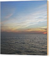A Sunset On The Last Day At Sea Wood Print