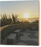 A Sunset Relaxation Zone - Wood Print