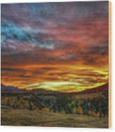 A Sunset To Remember Wood Print