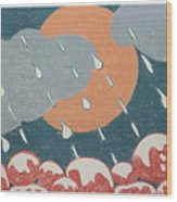 A Sunshine  Rain - Shower Wood Print