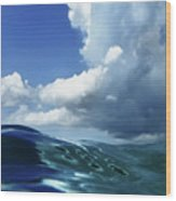 A Surfer's View Wood Print
