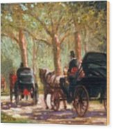 A Surrey Ride In Central Park Wood Print