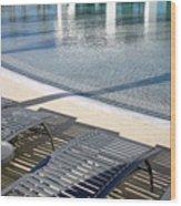 A Swimming Pool Wood Print