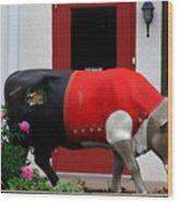A Swiss Cow In New Glarus Wi Wood Print