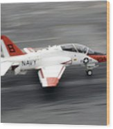 A T-45c Goshawk Training Aircraft Makes Wood Print