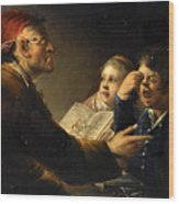 A Teacher And His Pupils Wood Print
