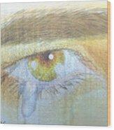 A Teardrop Kissed... Wood Print