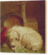A Terrier Wood Print by John Fitz Marshall