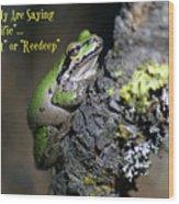 A Terrific Frog #1 Wood Print