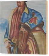 A Texas Horseman Wood Print