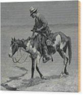 A Texas Pony Wood Print