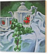 A Time For Tea Wood Print