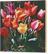 A Time For Tulips Wood Print