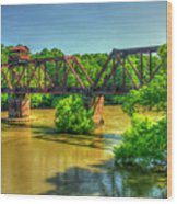 A Time Gone By Railroad Bridge Lumber City Georgia Wood Print