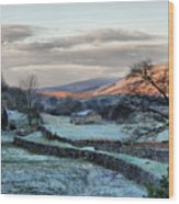 A Touch Of Frost In Swaledale Wood Print