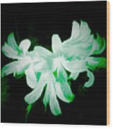 A Touch Of Green On The Lilies Wood Print
