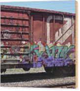 A Train Car Named Desire Wood Print
